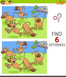 Between animals spot the differences 2