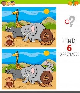 Between animals spot the differences 5
