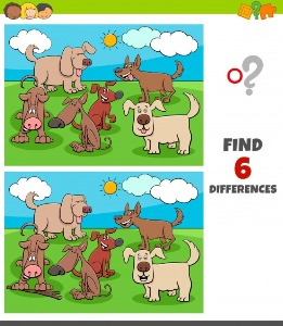 Between dogs spot the differences 2