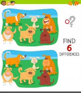 Between dogs spot the differences 3