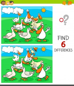 Between duck spot the differences