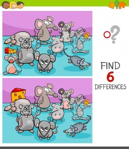 Between mice spot the differences