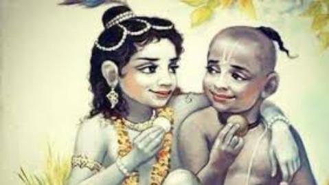 Krishna and Sudama in Jungle