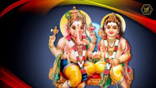 Lord Ganesha And Karthikeya