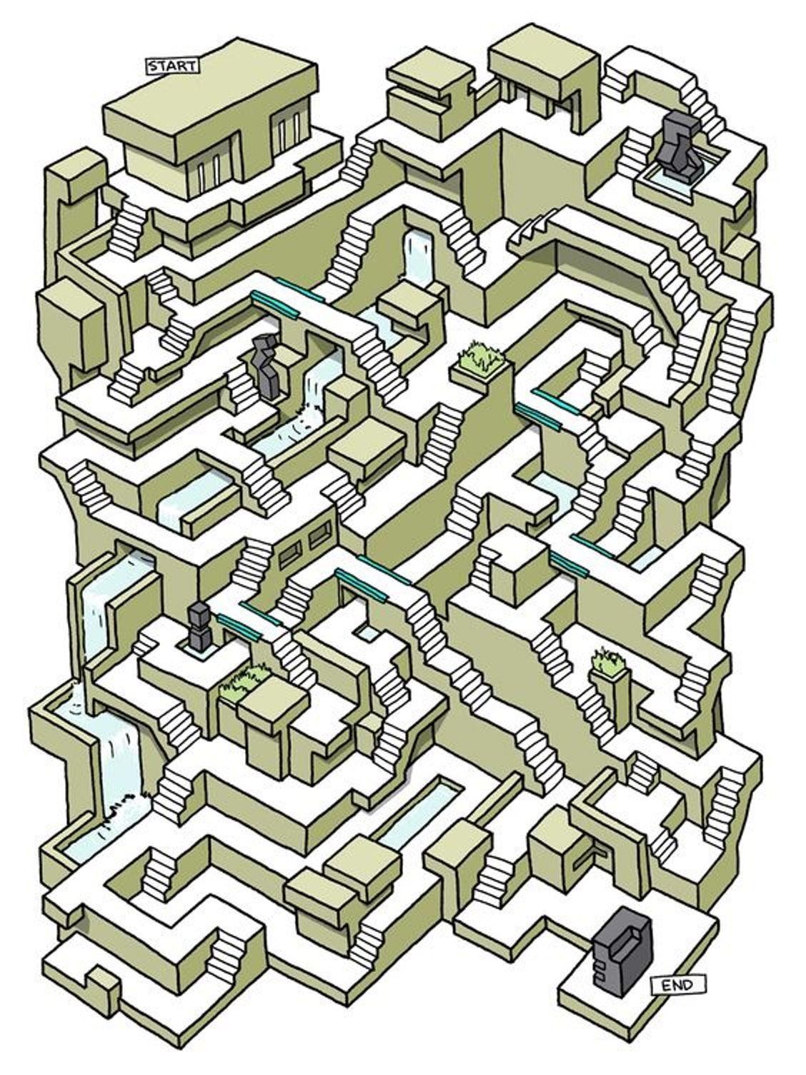 Steps Maze puzzle