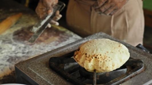 The hot roti