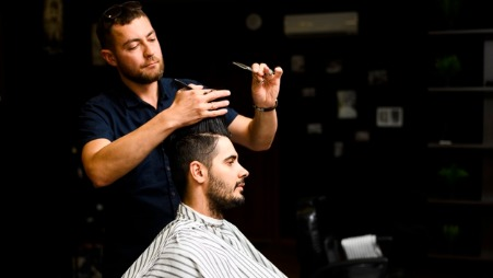 The barber and his argument